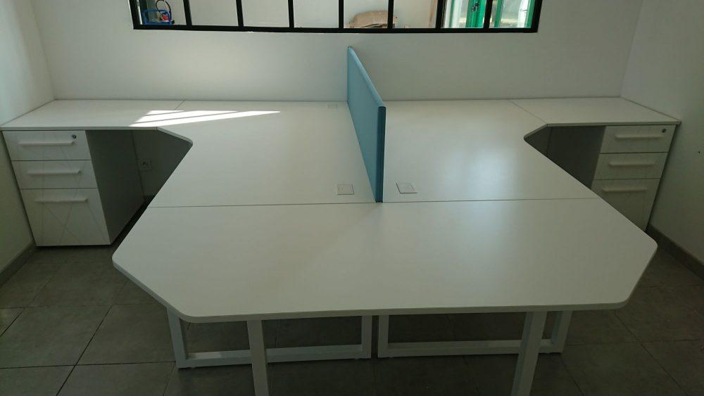 Bureaux partages plan compact maxoffice mobilier de bureau